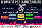 En marcha la cuarta edición del Torneo Fútbol Sala por la Integración, organizado por FEAFES-Arfes Pro Salud Mental, en colaboración con Logroño Deporte
